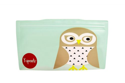 3 Sprouts Reusable Snack Bag - Owl